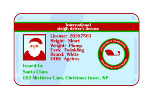 Santa S License Christmas Craft Cut File By Creative Fabrica Crafts