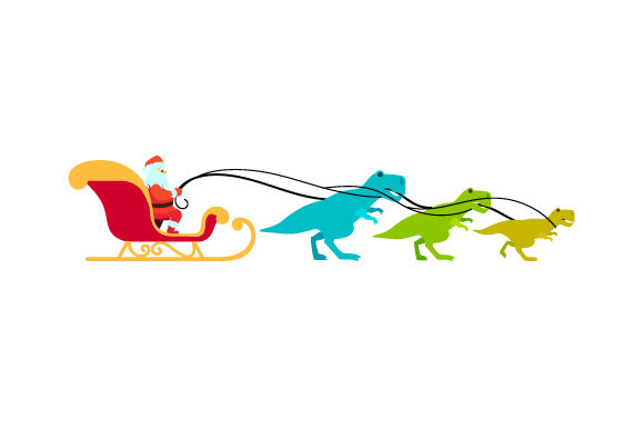 Christmas Dinosaur Sleigh Christmas Craft Cut File By Creative Fabrica Crafts