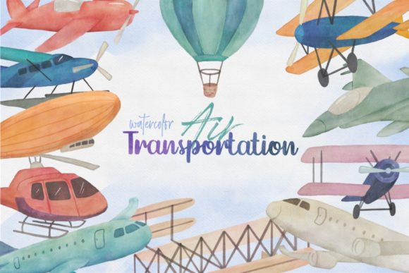 Air Transportation Airplane Clipart Graphic Illustrations By peachycottoncandy