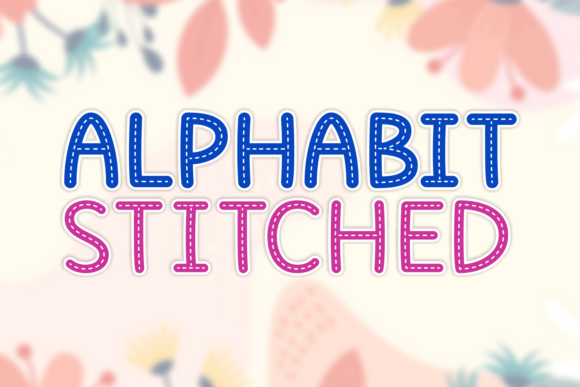 Print on Demand: Alphabit Stitched Display Font By Situjuh