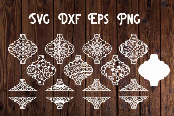 Print on Demand: Arabesque Christmas Ornament SVG Graphic Print Templates By dadan_pm