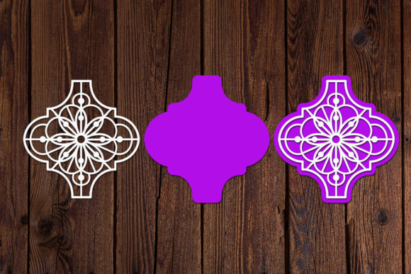 Arabesque Christmas Ornament SVG Graphic Download