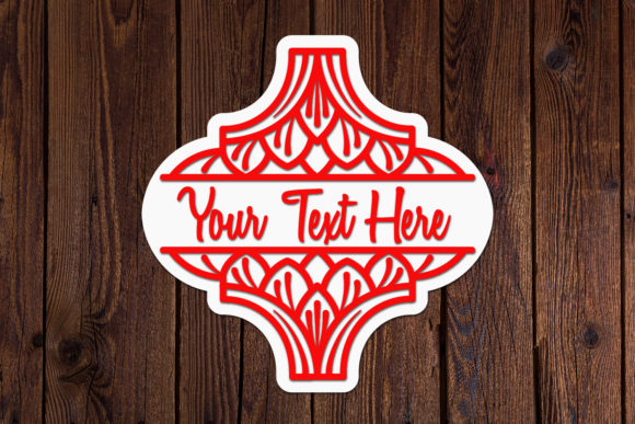 Arabesque Christmas Ornament SVG Graphic Item