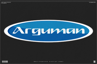 Print on Demand: Arguman Display Font By zealab fonts division 1