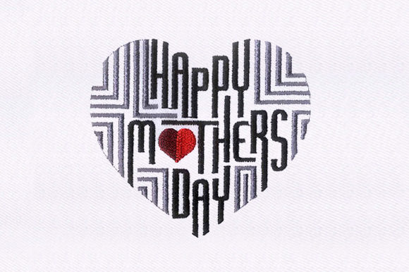 Artistic Mothers Day Mother's Day Embroidery Design By DigitEMB