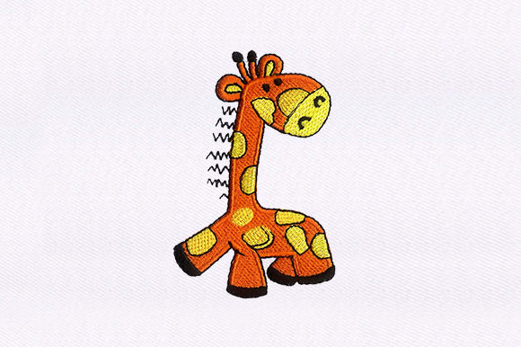 Baby Giraffe Baby Animals Embroidery Design By DigitEMB