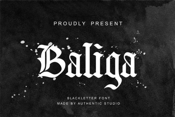 Print on Demand: Baliga Blackletter Font By Authentic Studio