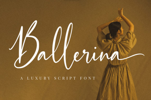 Print on Demand: Ballerina Script & Handwritten Font By NissaStudio