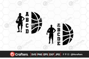Basketball Player, Basketball Silhouette Graphic Crafts By HiCrafters