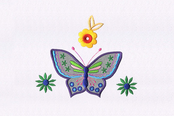 Beautiful Butterfly Bugs & Insects Embroidery Design By DigitEMB