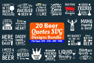 Print on Demand: Beer Designs Bundle Graphic Print Templates By Design Store