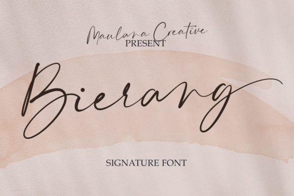 Print on Demand: Bierang Script & Handwritten Font By Maulana Creative