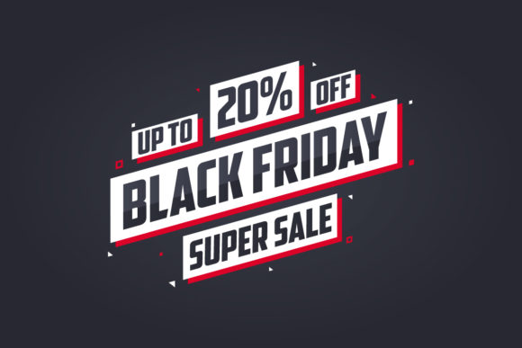 Black Friday Sale 20% Discount Offer Graphic Illustrations By Netart