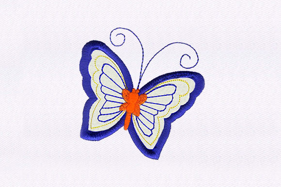 Butterfly Applique Bugs & Insects Embroidery Design By DigitEMB