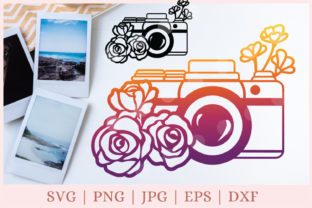 Camera, Photography, Floral   Graphic Print Templates By CrazyCutDesigns