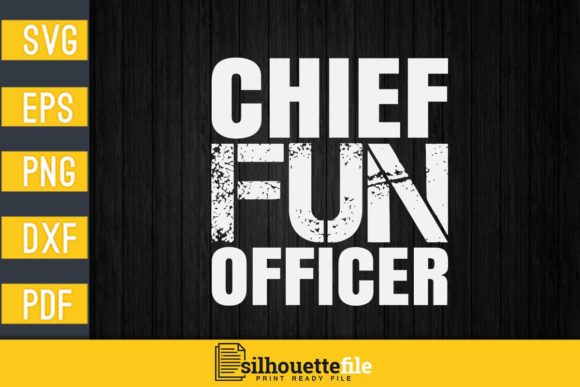 Print on Demand: Chief Fun Officer Graphic Print Templates By Silhouettefile