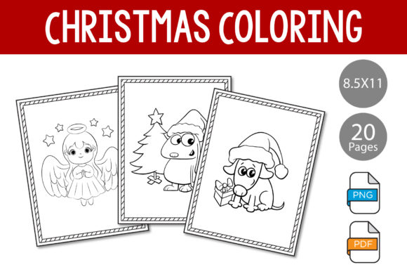 Print on Demand: Christmas Coloring Book - KDP Interior Graphic KDP Interiors By IsaraDesign