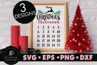 Print on Demand: Christmas Countdown Bundle Design SVG Graphic Crafts By freelingdesignhouse