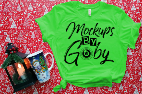 Christmas Green T-shirt Mock Up Photo Graphic Product Mockups By MockupsByGaby