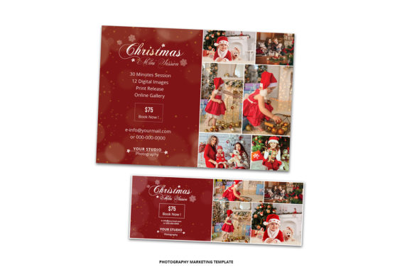 Print on Demand: Christmas Mini Session & Facebook Cover Graphic Print Templates By sistecbd