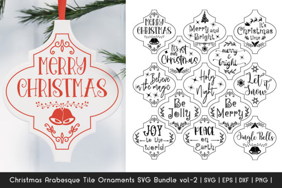 Print on Demand: Christmas Ornaments SVG Bundle Graphic Crafts By Dasagani