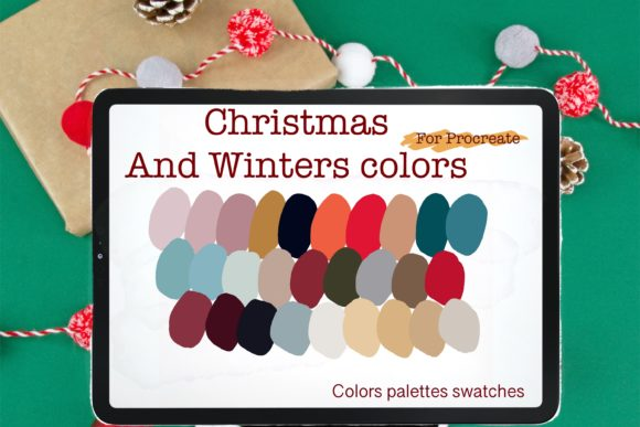 Christmas & Winter Procreate  Palettes Graphic Add-ons By PoyJazz