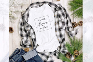 Christmas Winter T-Shirt Mockup Rustic Graphic Product Mockups By SlyDesignStudio