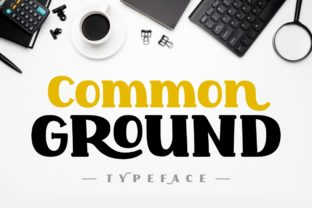 Print on Demand: Common Ground Display Font By Jasm (7NTypes)