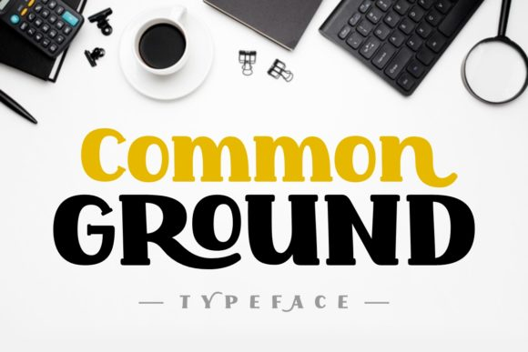 Print on Demand: Common Ground Display Fuente Por Jasm (7NTypes)