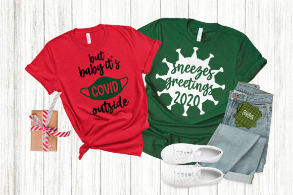 Covid Christmas Duo SVG Graphic Crafts By RisaRocksIt