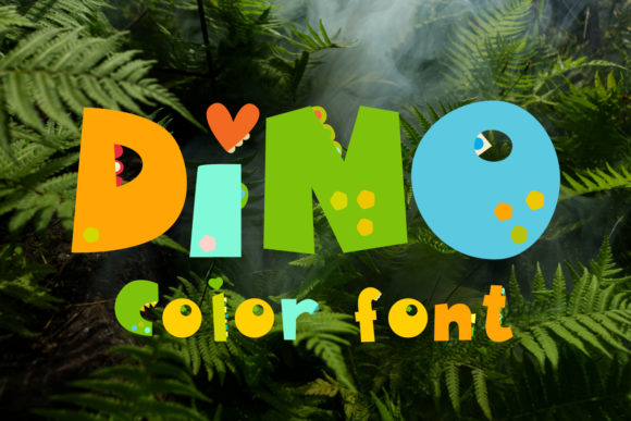 Print on Demand: Dino Display Font By KundolaArt