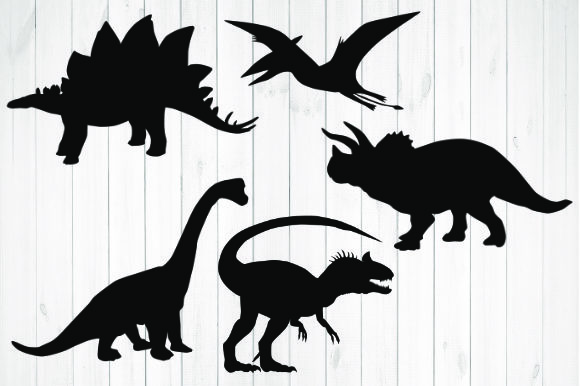 Print on Demand: Dinosaurs Silhouette Graphic Illustrations By rayan