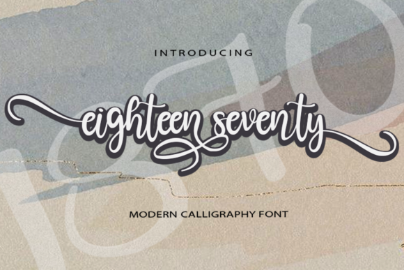 Print on Demand: Eighteen Seventy Script & Handwritten Font By koko.sample