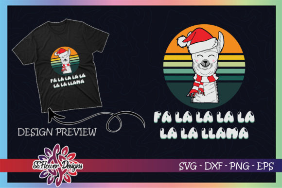 Fa La La Llama Christmas Funny Graphic Graphic Print Templates By ssflower
