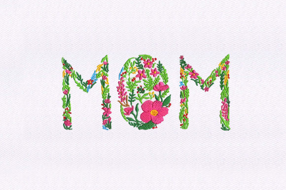 Flowering Mother's Day Mother's Day Embroidery Design By DigitEMB