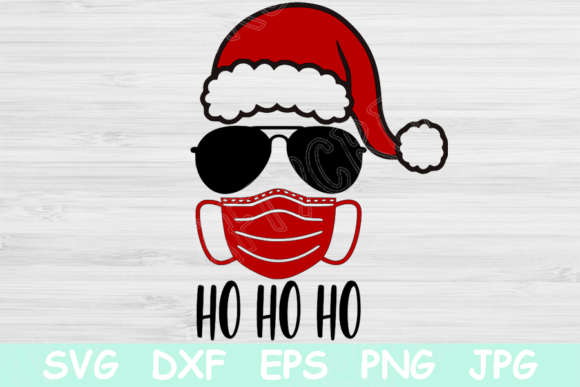 Funny Santa Mask Christmas Svg Files. Graphic Crafts By TiffsCraftyCreations