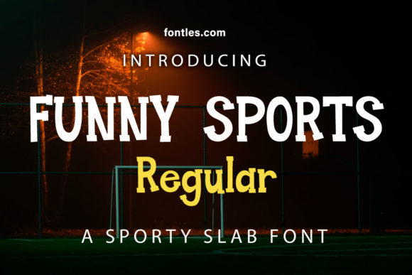Print on Demand: Funny Sports Slab Serif Schriftarten von Crafty Files
