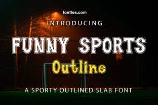 Print on Demand: Funny Sports Outline Slab Serif Font By Crafty Files