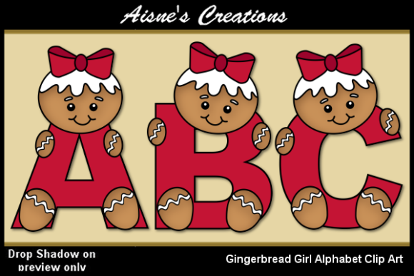 Print on Demand: Gingerbread Girl Alphabet Graphic Objects By Aisne