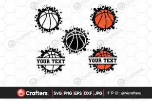 Half Basketball, Basketball Ball Bundle Graphic Crafts By HiCrafters