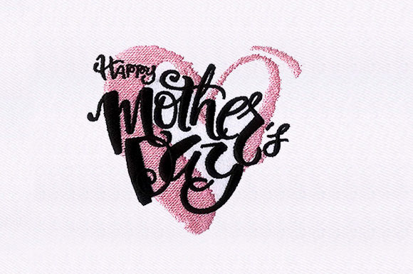 Heart Mothers Day Mother's Day Embroidery Design By DigitEMB