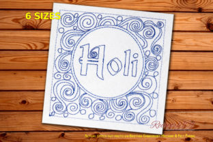 Holi Abstract Asia Embroidery Design By Redwork101