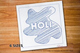 Holi Color Pattern Bluework Asia Embroidery Design By Redwork101