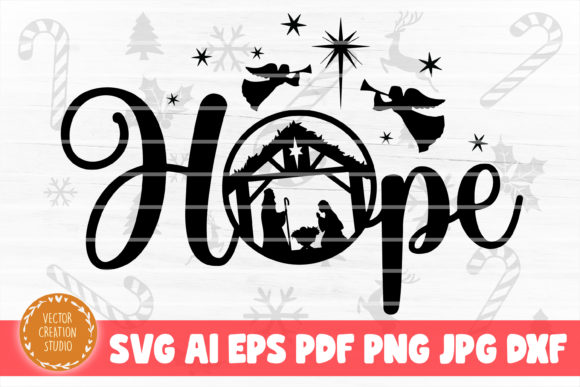 Print on Demand: Hope Nativity Scene Christmas SVG File Graphic Crafts By VectorCreationStudio