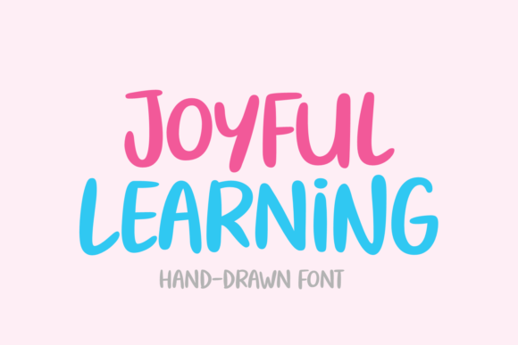 Print on Demand: Joyful Learning Script & Handwritten Font By Situjuh