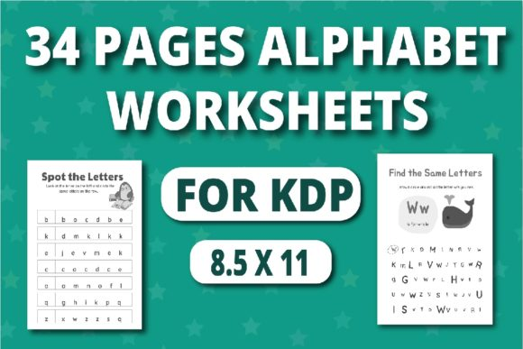 Print on Demand: KDP Alphabet Worksheets Activity Book Graphic KDP Interiors By RefreshUp