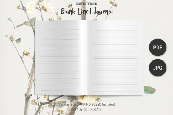 Print on Demand: KDP Blank Lined Journal Interior Graphic KDP Interiors By The Low Content Bookshelf
