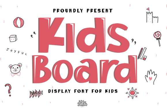 Print on Demand: Kids Board Display Font By Nerzstudio