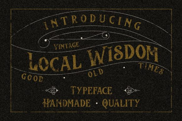 Print on Demand: Local Wisdom Display Font By MHM STUDIO
