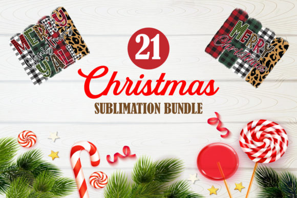Print on Demand: Merry Christmas Bundle Sublimation 1 Graphic Crafts By TripleBcraft